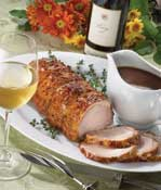Pork Loin with Cider-Madeira Sauce