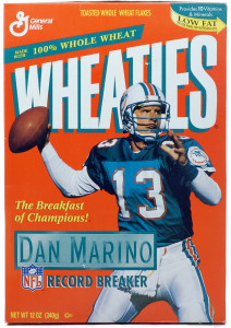 Dan Marino on Wheaties box