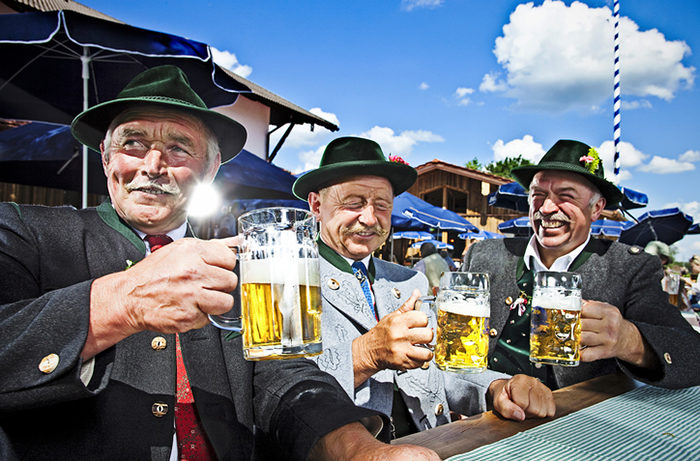 Bavarians In The Beergarden