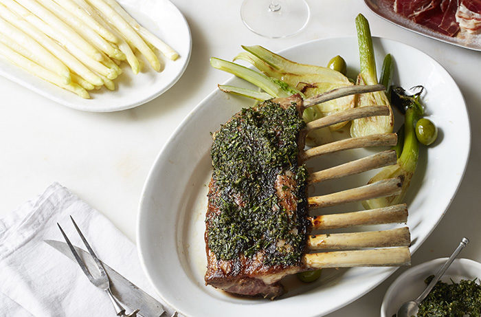 Rack of lamb with Pinot Noir pairing