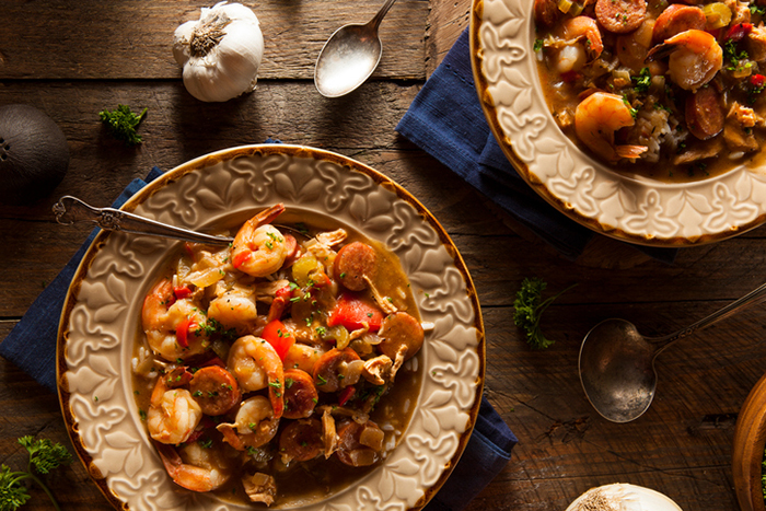 Seafood gumbo / Getty