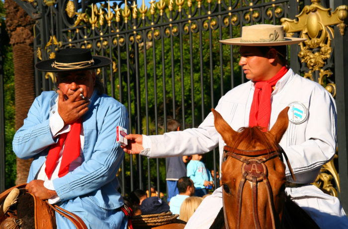 Gauchos at Mendoza's Vendimia grape harvest festival