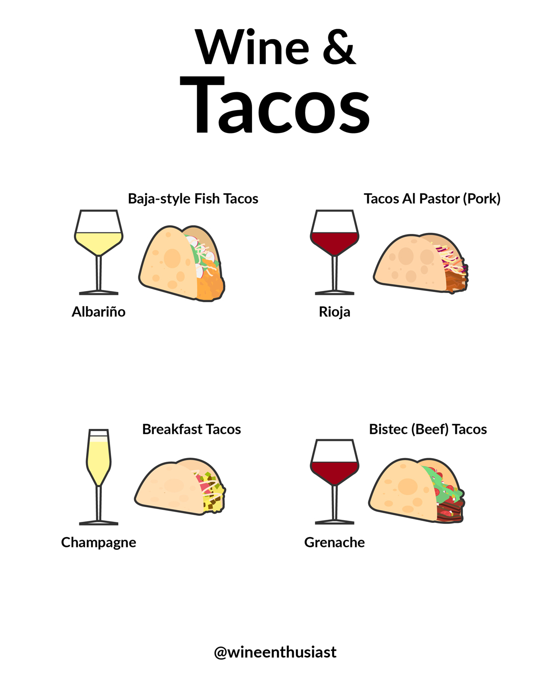 Wine and tacos