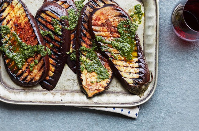 Grilled Eggplant with Chimichurri