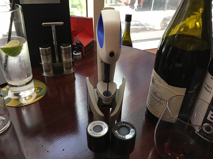 The Coravin wine-preservation system.
