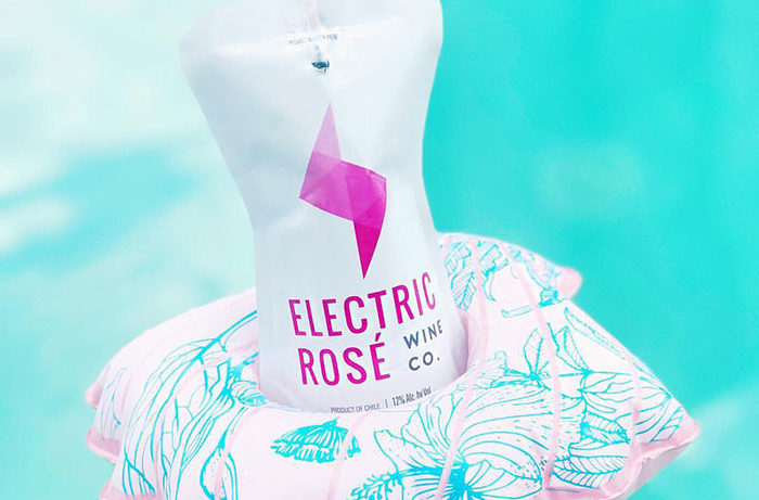Electric Rosé Pouch Wine