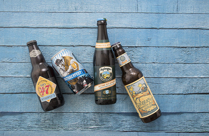 Different beers for Oktoberfest.