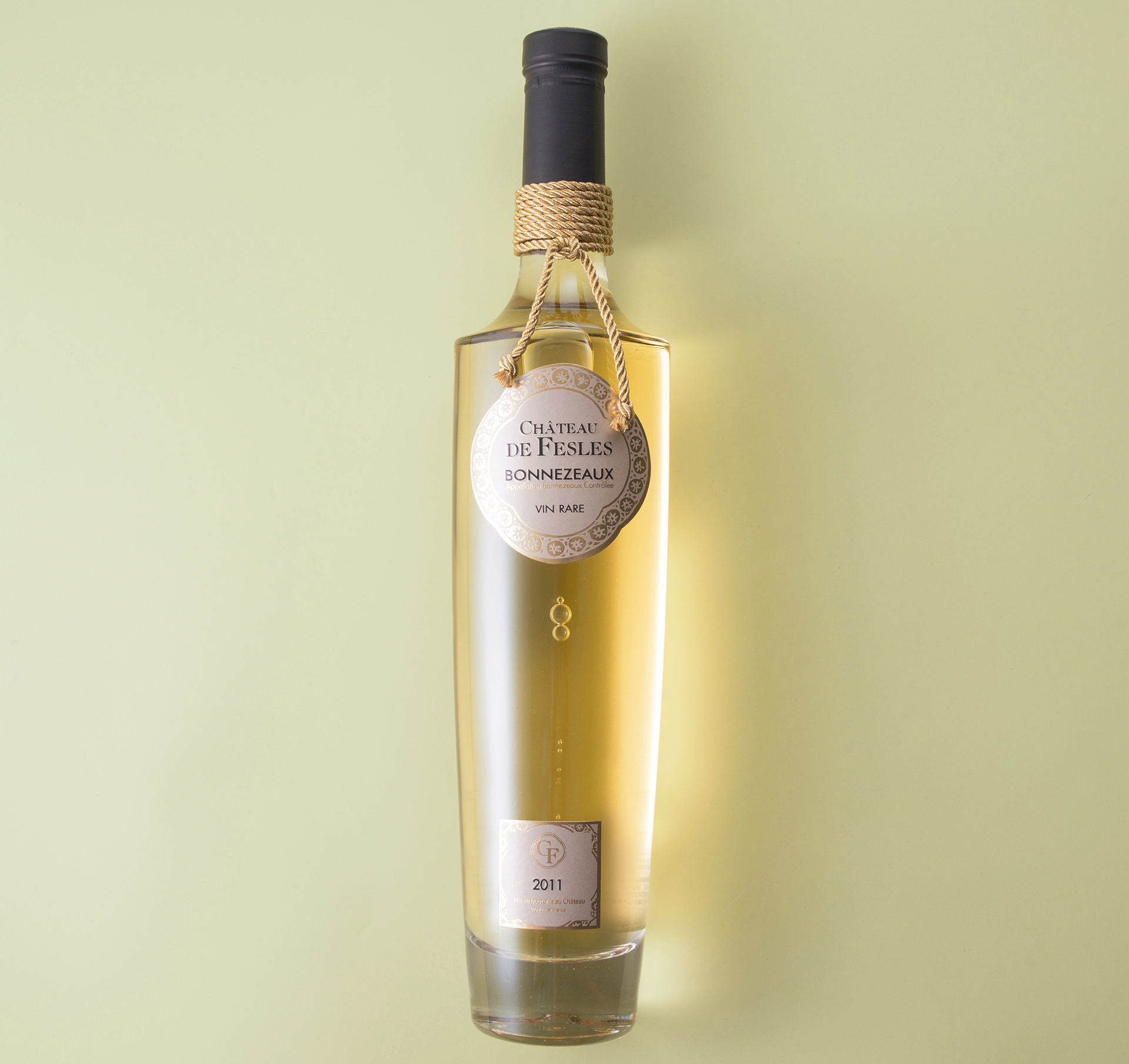 A bottle of botrytized wine from the Loire Valley
