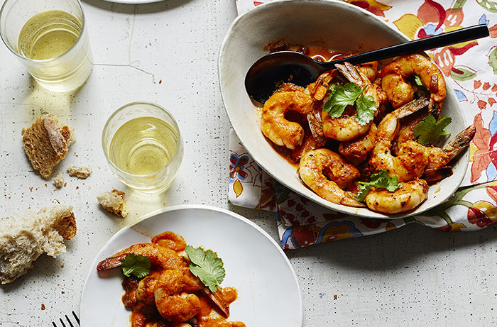 Whiskey Piri Piri Shrimp.