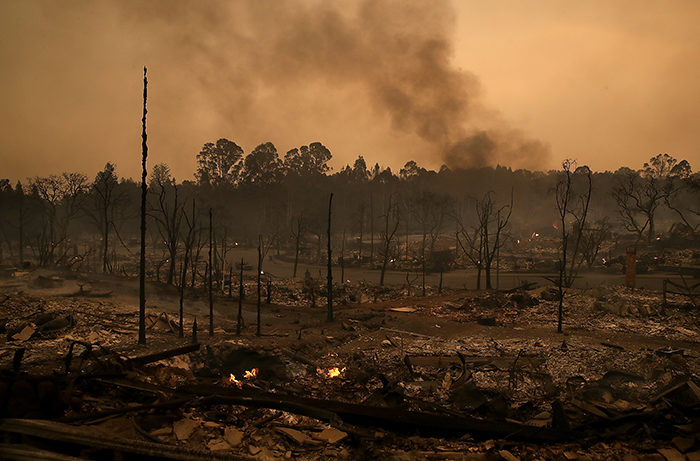 Multiple Wildfires Destroy Homes, Threaten California Wine Country.