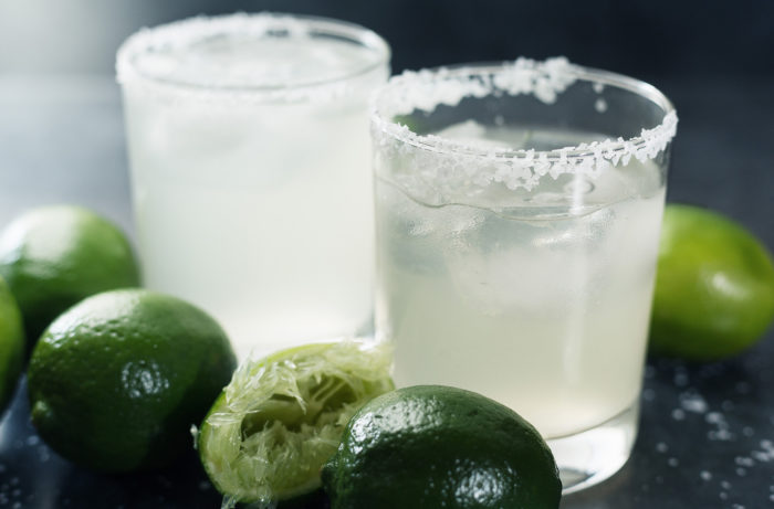 Margaritas on the Rocks with Limes