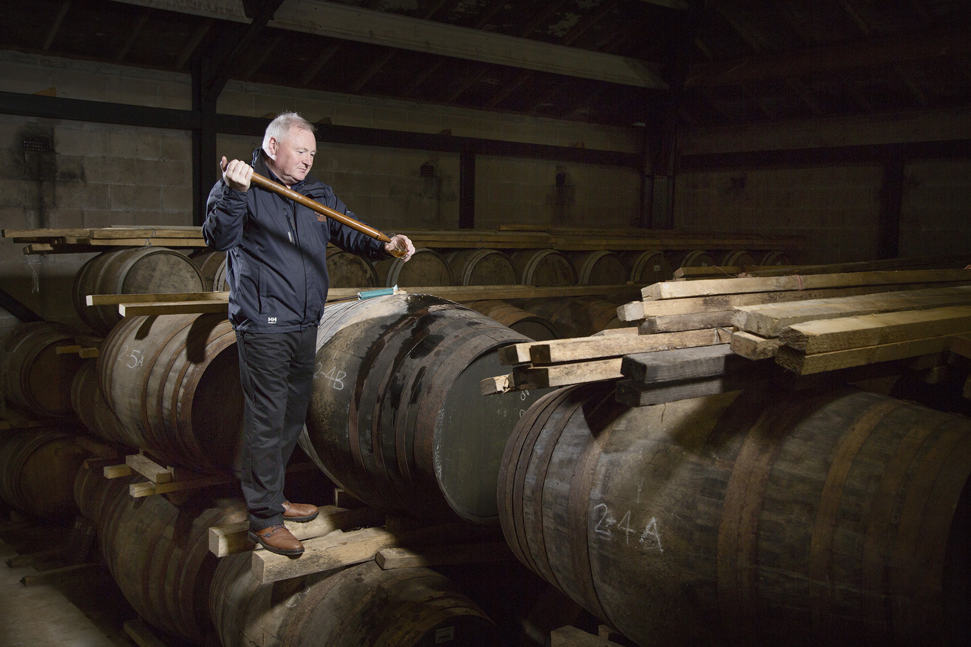 James MacTaggart, Master Craftsman at Isle of Arran Distillery.