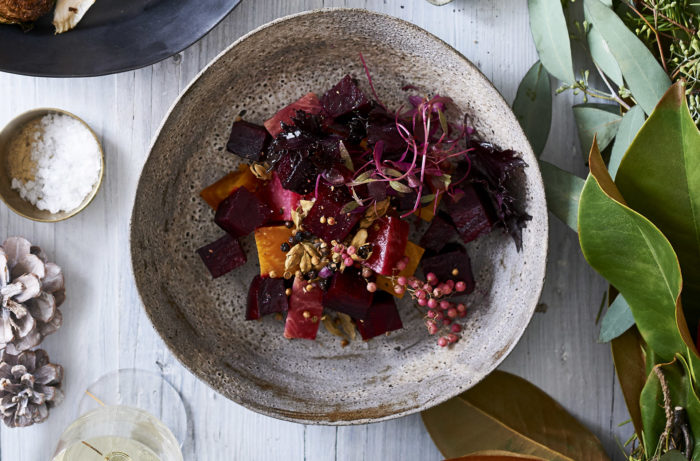 A side dish of salt-roasted beets