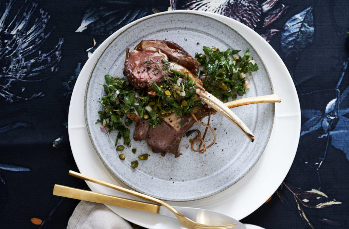 Oven roasted lamb with gremolata