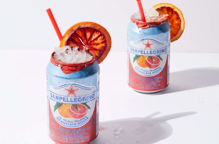 Build a blood orange soda cocktail in its own can.