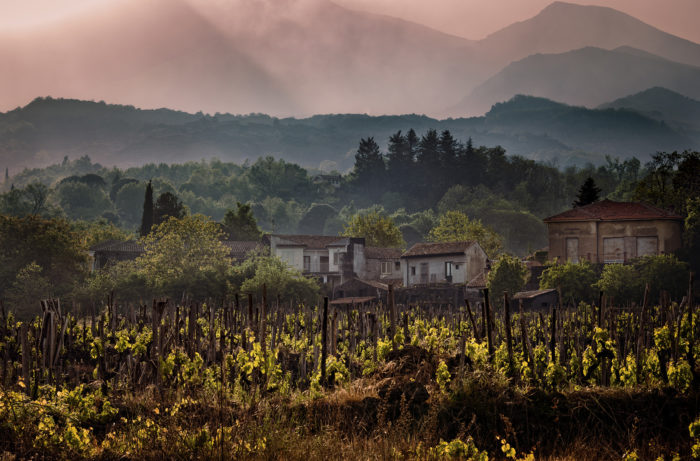 A view of Mount Etna, one spot for Italy's volcanic wines.