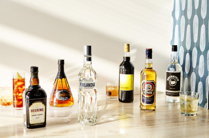 Different Nordic spirits from around Europe.