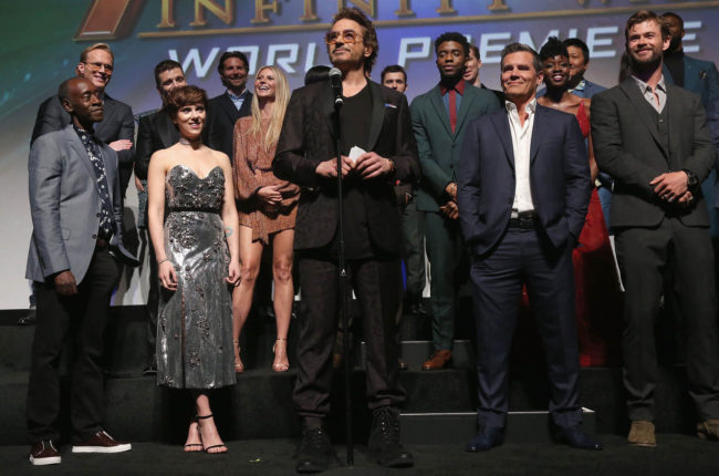 Cast & crew of 'Avengers: Infinity War' attend the Los Angeles Global Premiere for Marvel Studios