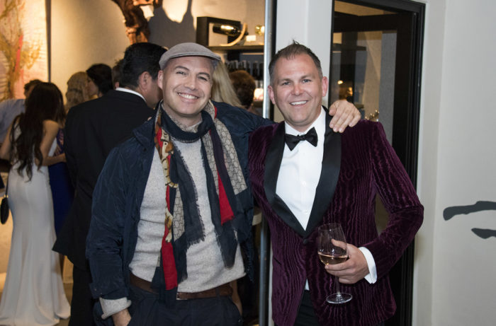Artist and actor Billy Zane with Kirk Wiles, CEO and founder of Paradise Springs Winery