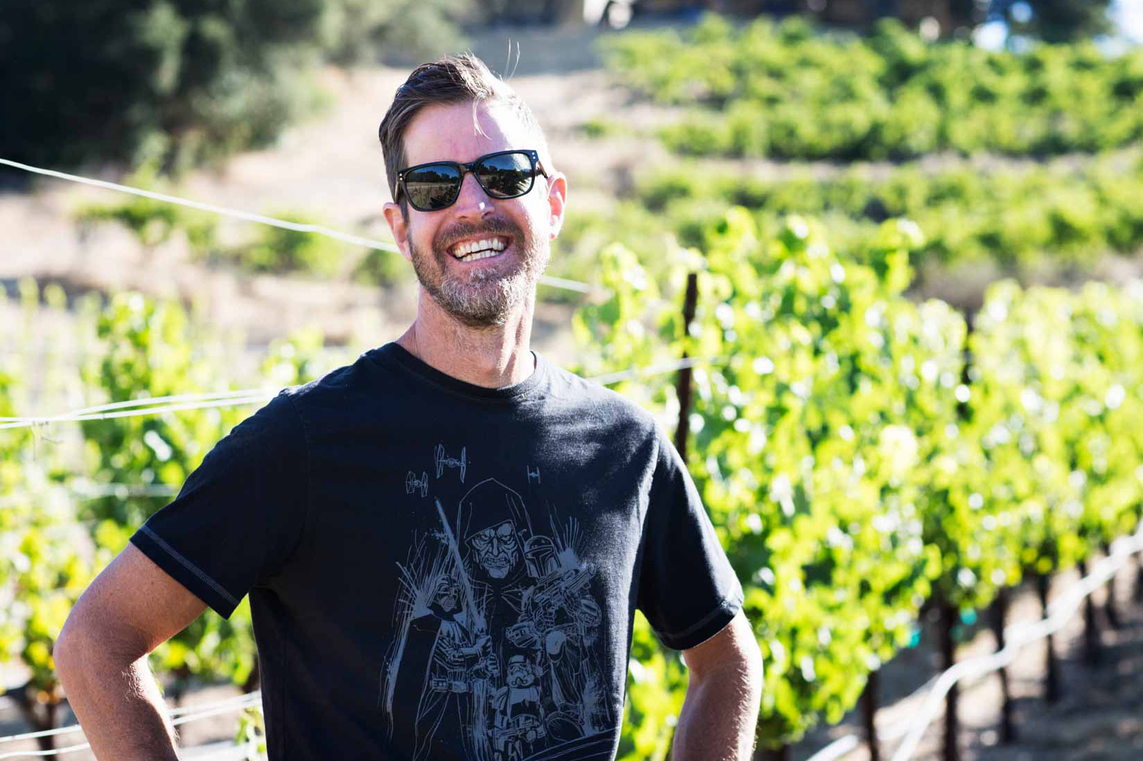 Justin Smith in James Berry Vineyard