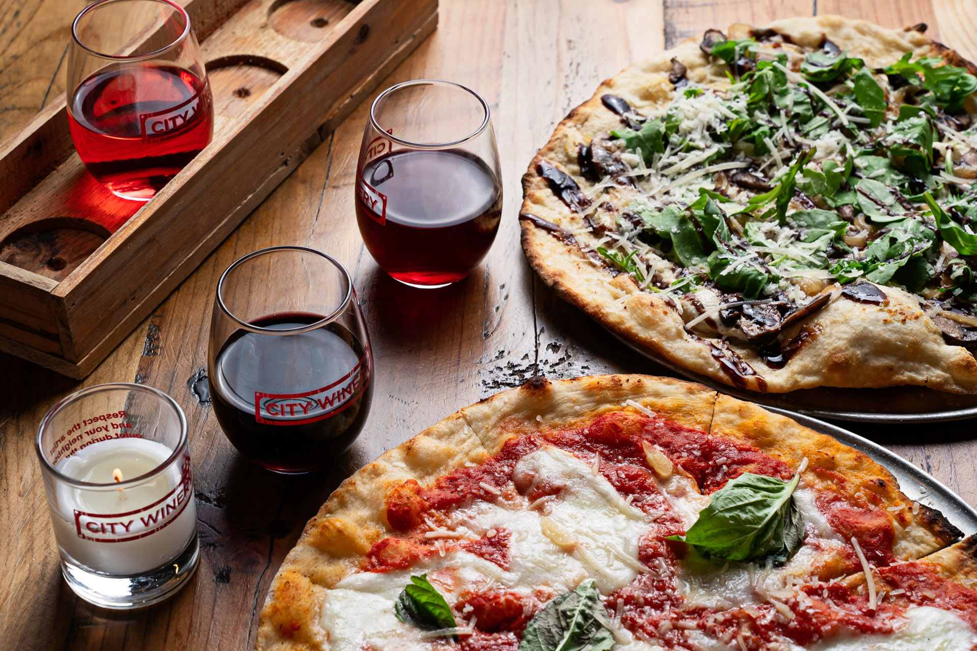 Two of the finest things in life, pizza and wine, at City Winery / Photo by Scott Suchman