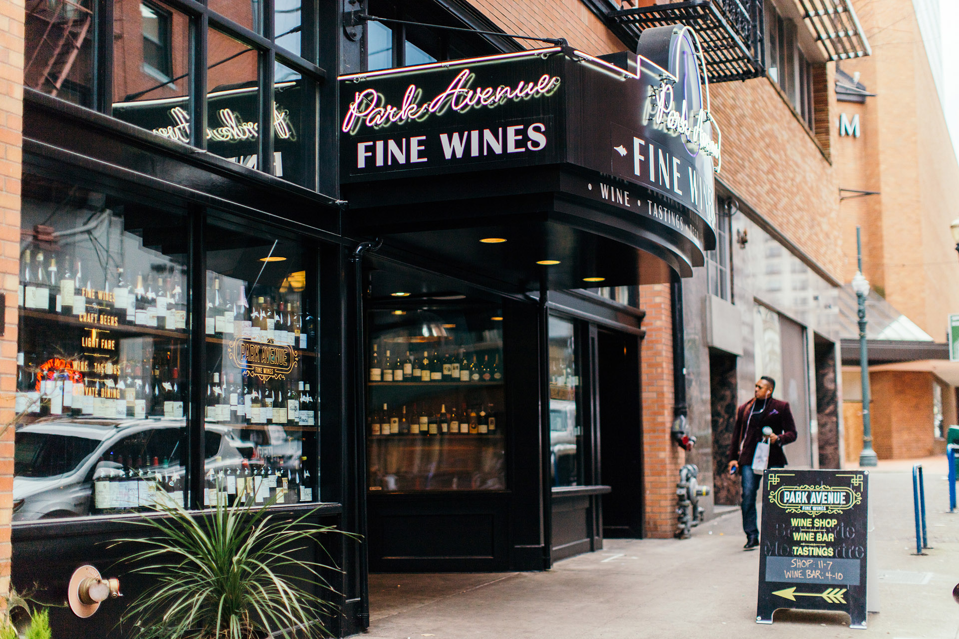 Housed in a historic jazz club is Park Avenue Fine Wines, Portland, Oregon / Photo by Matt Gonzalez