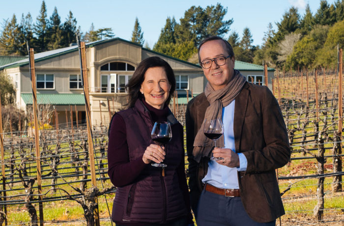 Frederic Rouzaud of Maison Louis Roederer and Merry Edwards of Merry Edwards Winery