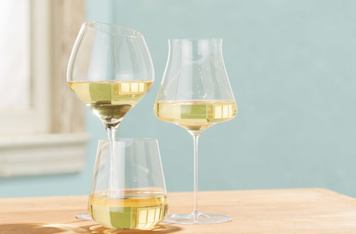 California white wine in a glass
