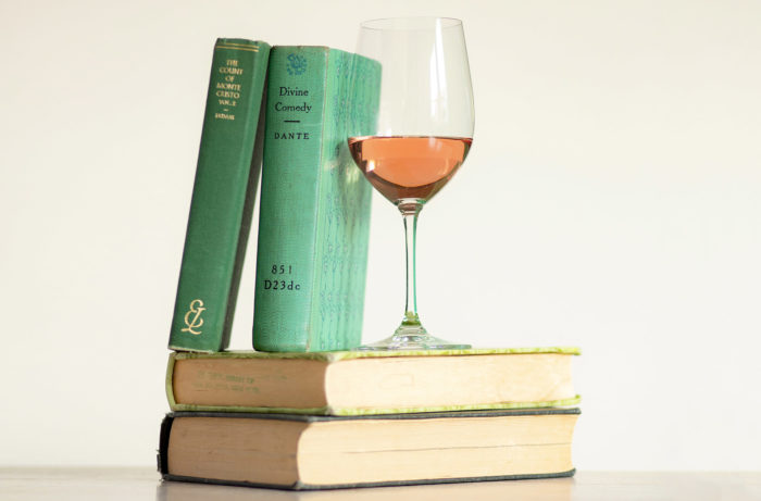 Wine and classic books