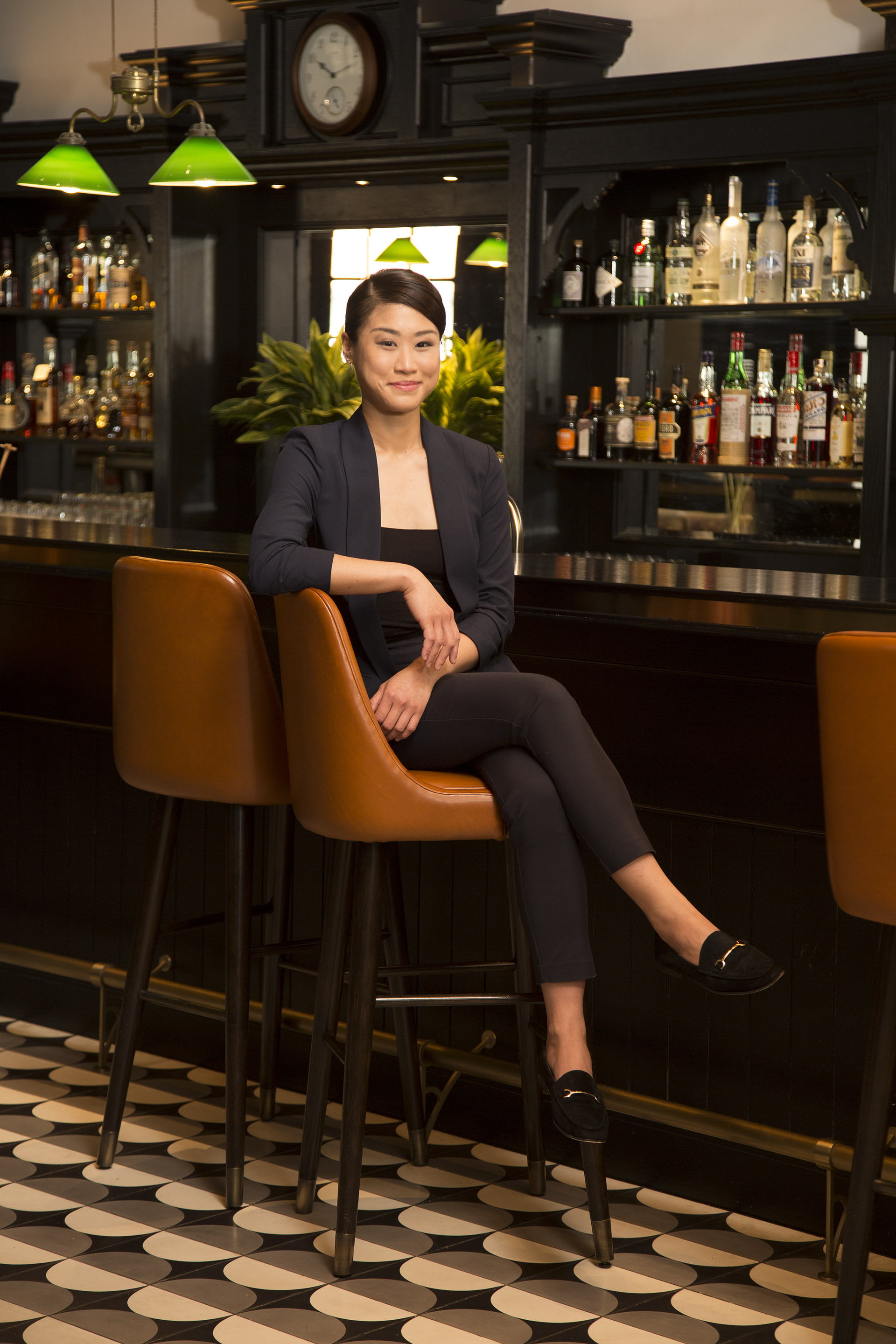 Priscilla Leong, head bartender, Raffles Hotel, Singapore / Photo by Russell Wong