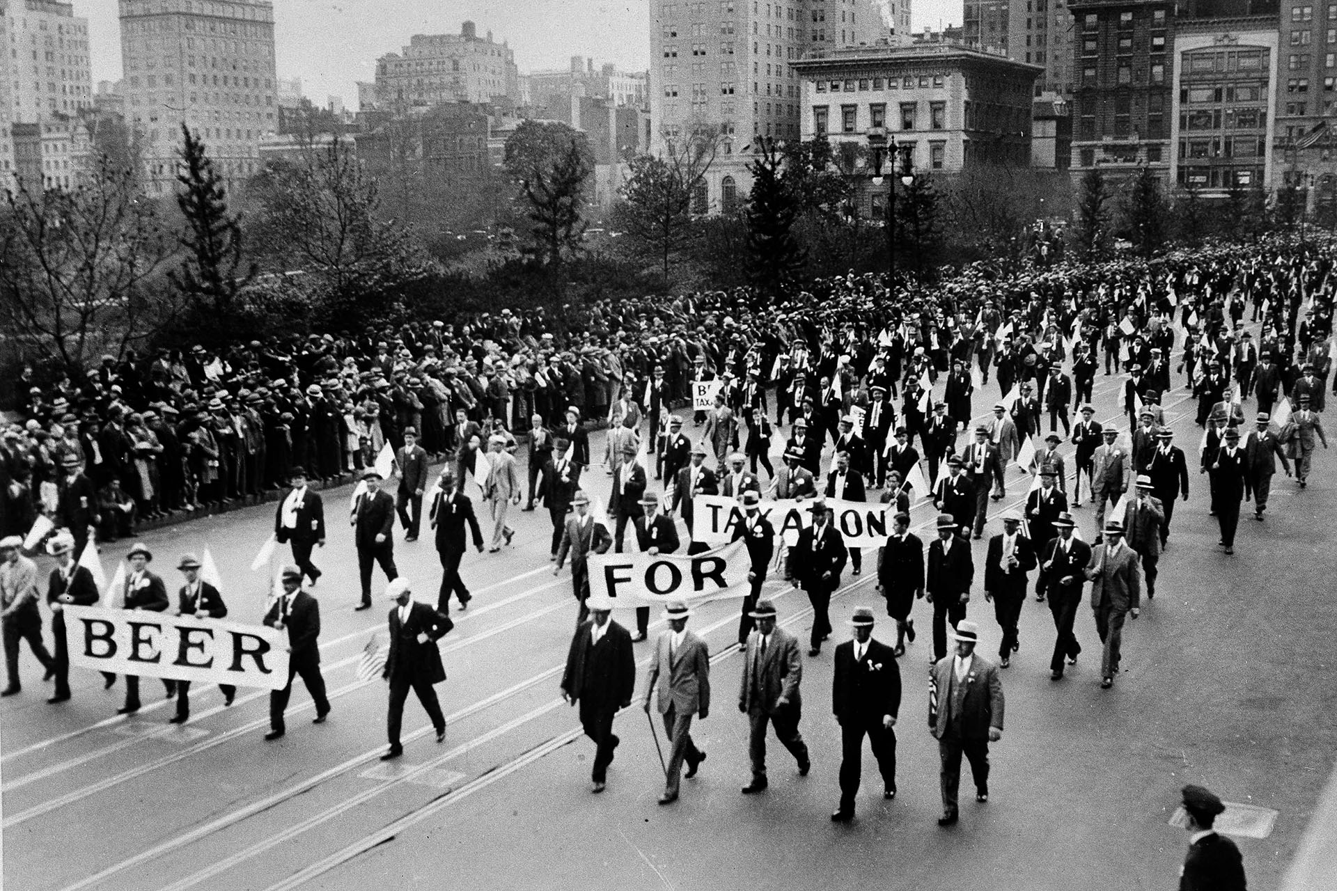 Prohibition rally in NYC