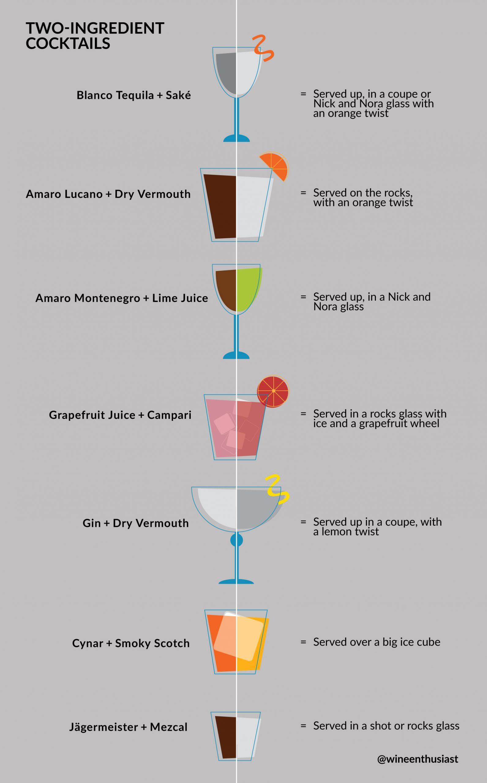 Illustrated cocktails