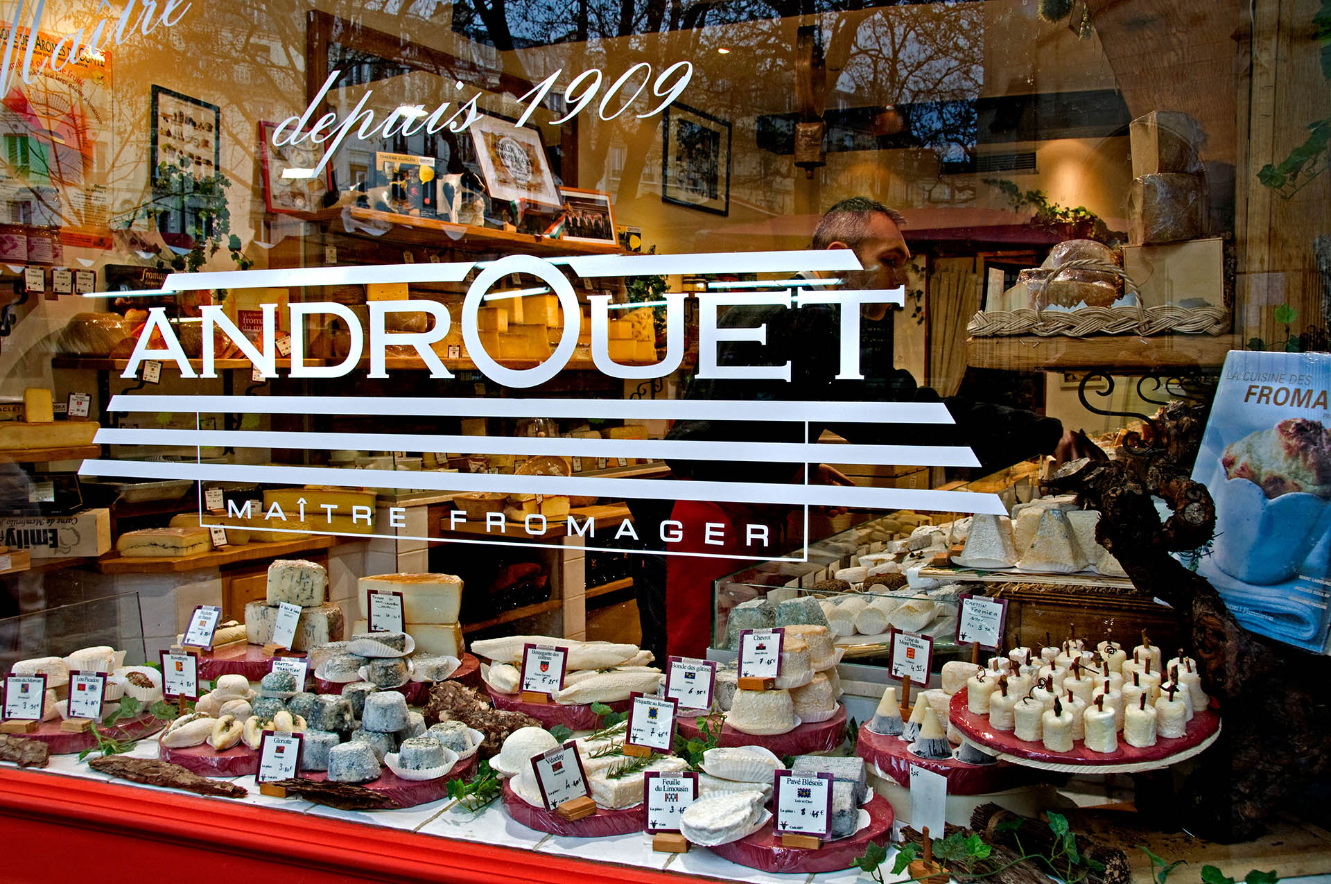 Androuet cheese shop in Paris