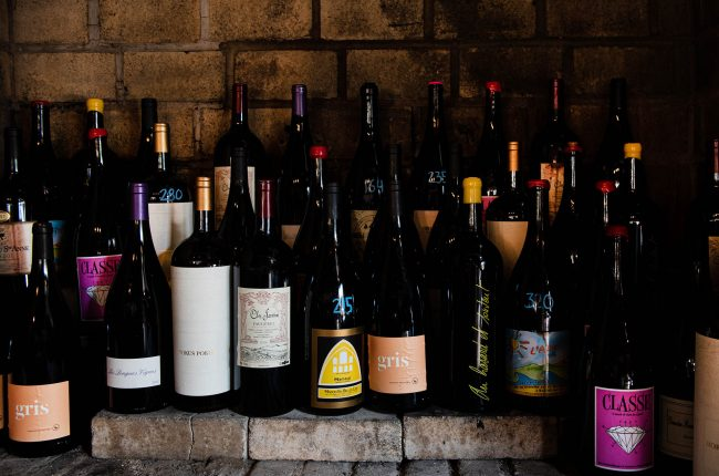 Selection of wines at Rhodora Wine Bar, Brooklyn NY