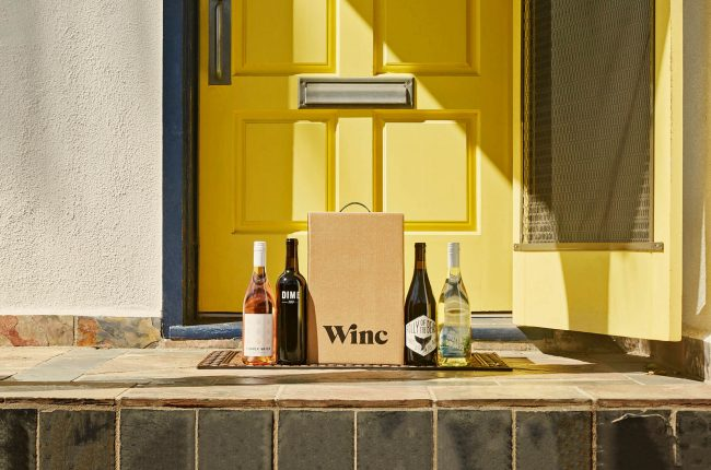 Wine box doorstep