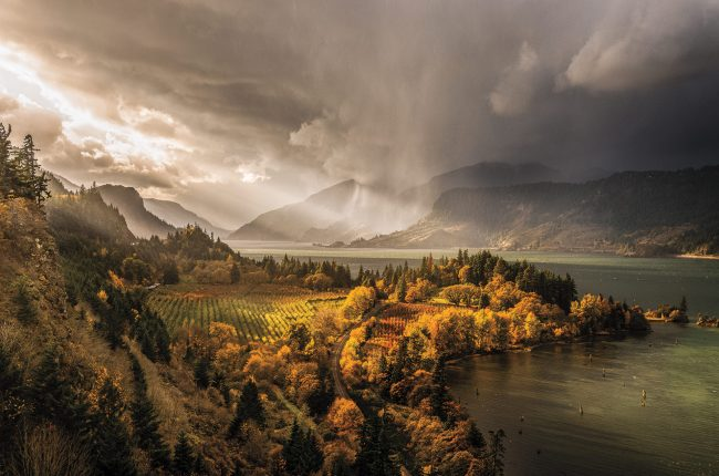 The Columbia Gorge landscape