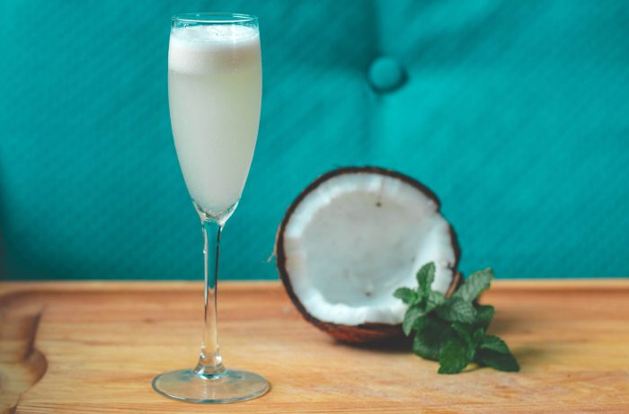 A Pina Colada with Champagne
