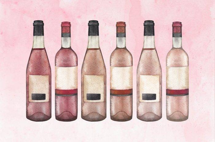 Bottles of Italian rosato