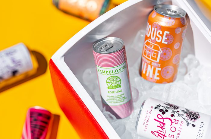 Canned wine spritzers