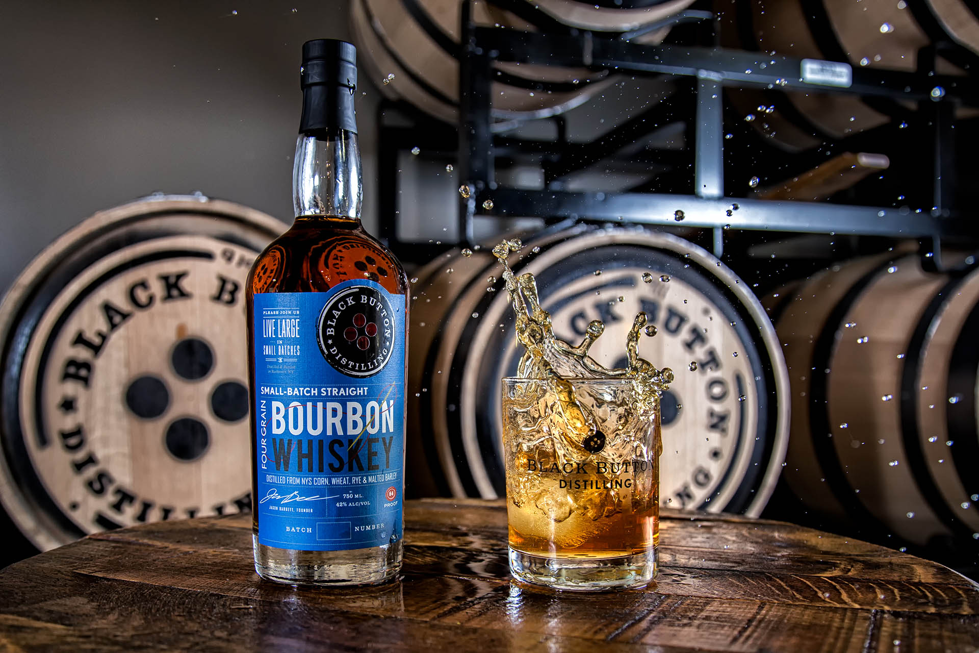 Black Button Distilling's Four Grain Straight Bourbon