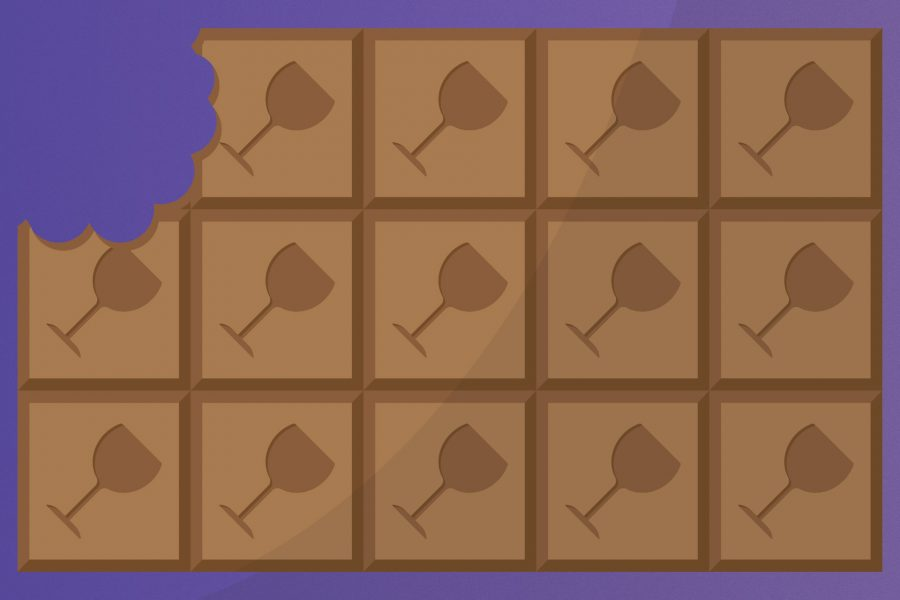 An illustration of a chocolate bar