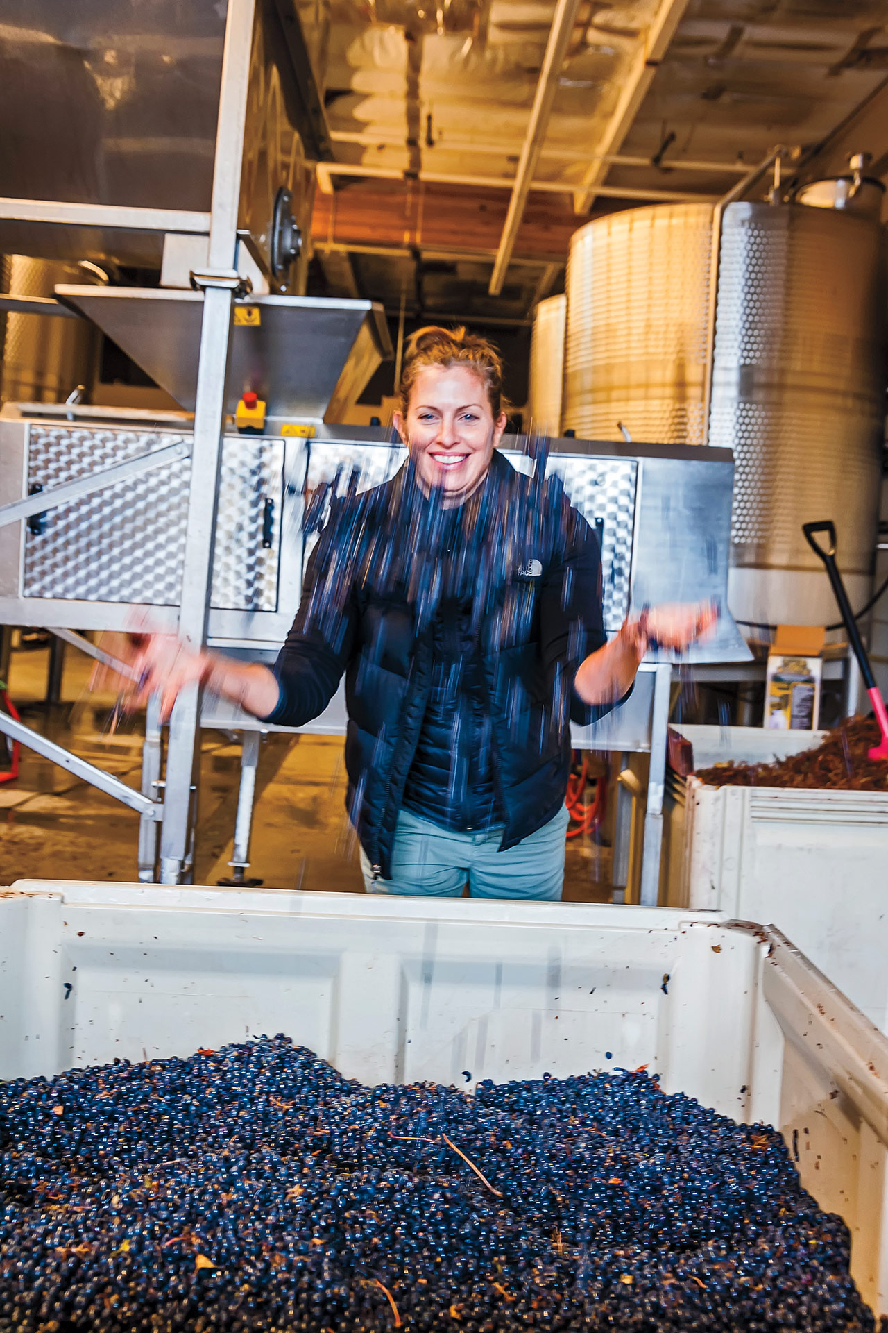 Mari Womack, owner and winemaker at Damsel Cellars