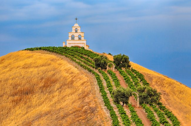 Shandon Chapel on a hill in Paso Robles