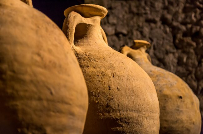 A collection of Roman storage vessels more commonly known as Amphora