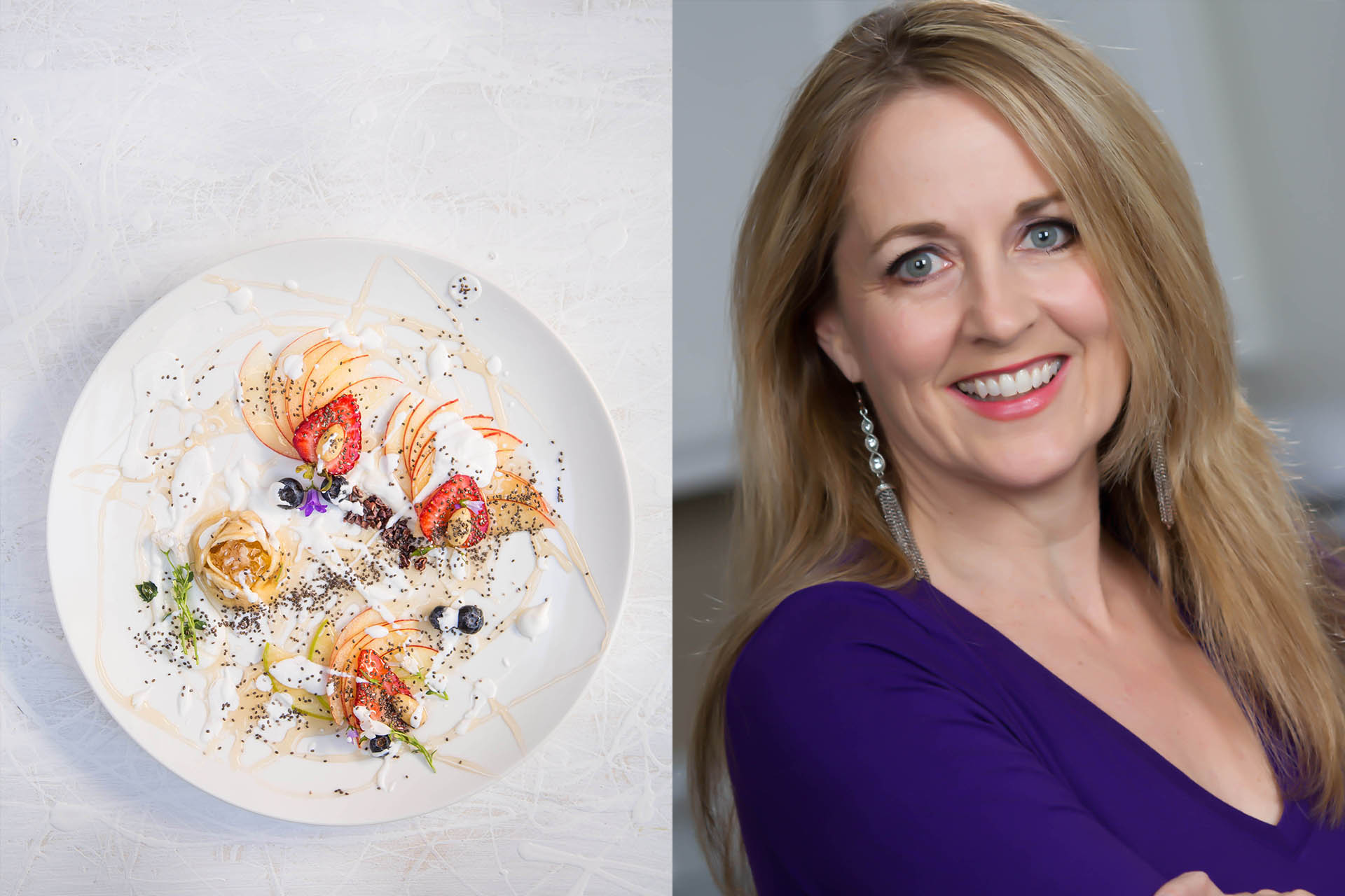LEFT: Fruit Carpaccio. RIGHT: Kara Mickelson / Photos by Shane O'Donnell