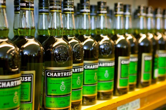 Bottles of green Chartreuse
