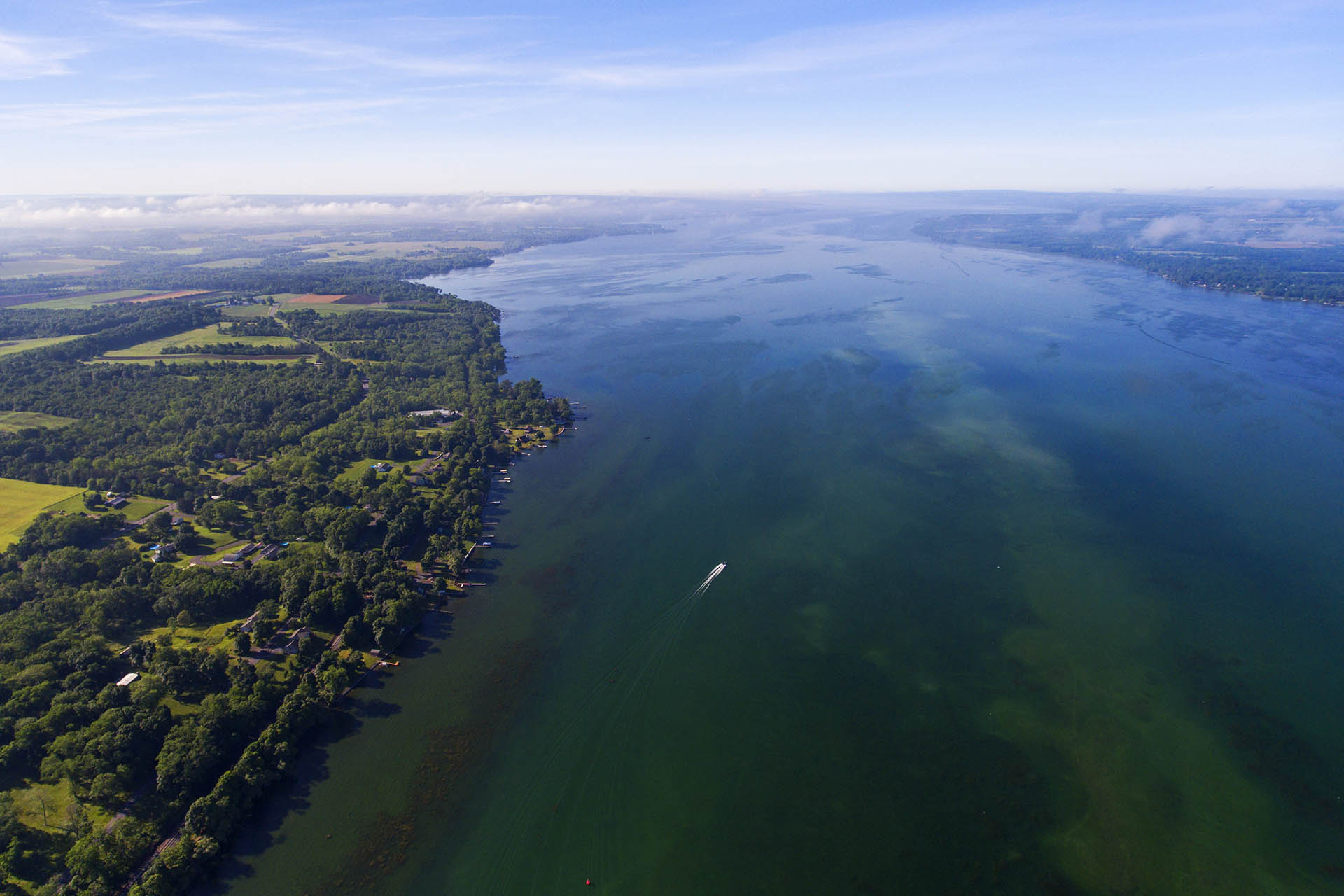 Cayuga Lake, part of New York's Finger Lakes, from above / Getty