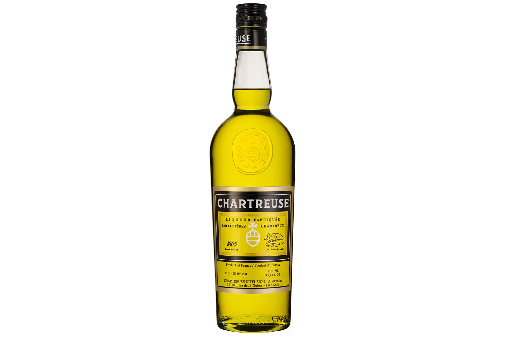 A bottle of yellow Chartreuse