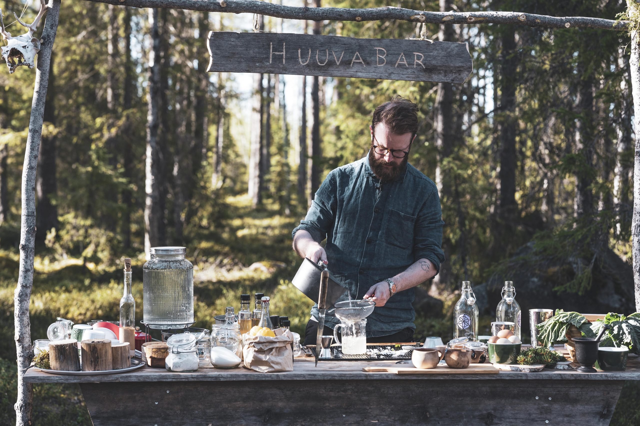 Fancy a mocktail? Bartender Emil Areng mixes up drinks with ingredients foraged nearby /